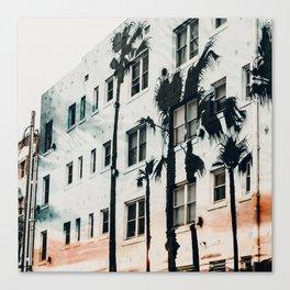palm mural venice ii Canvas Print