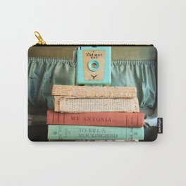 Vintage Suitcase - To Kill a Mockinbird / My Antonia Carry-All Pouch
