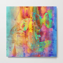 Colorful Butterfles Q Metal Print