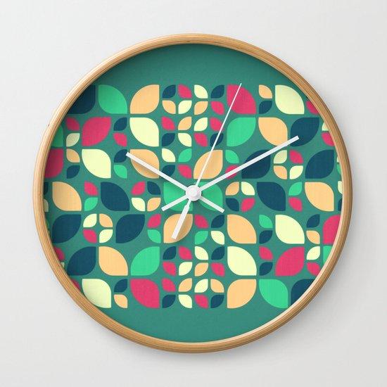 Vintage Spring Pattern II Wall Clock