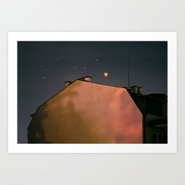 Blood Moon Art Print