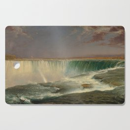 Frederic Edwin Church Niagara 1857 Painting Cutting Board