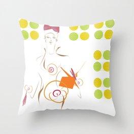 Esquisse d'un soir Throw Pillow