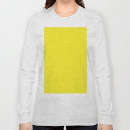 Lemon Yellow Solid Color Long Sleeve T-shirt