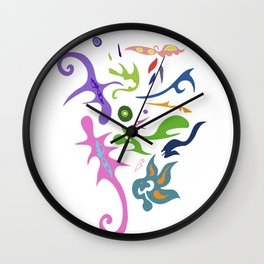 My pieces of invisible worlds Wall Clock