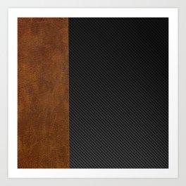 Carbon Leather Mix Art Print
