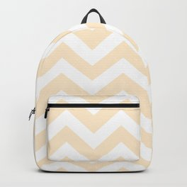 Blanched almond - pink color -  Zigzag Chevron Pattern Backpack