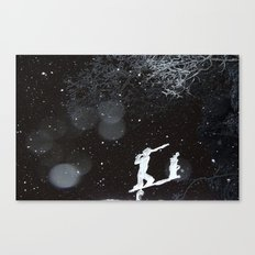 Winter Golfing Canvas Print