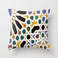 escher Throw Pillows featuring Escher Inspiration by Nancy Smith