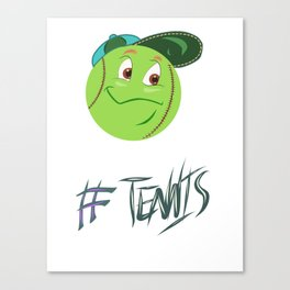 Tennis ball smiley Canvas Print