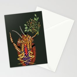 Cockroach all dressed up and ready to go paint the town Stationery Cards