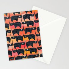 Black Rhino Sunset Stationery Cards