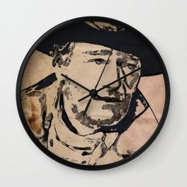 John Wayne Pop Art Wall Clock