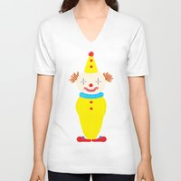 circus V-neck T-shirts featuring Circus by Lydia Meiying