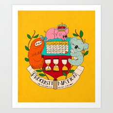 procrasti nation Art Print