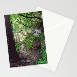 A FOREST TRAIL ON ORCAS ISLAND Stationery Cards