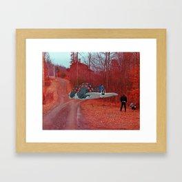 Nausicaa & the Ohmu (Nausicaa of the valley of the wind) (Burnsville NC) Framed Art Print