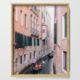 Venice Gondola Rides in Pink Serving Tray