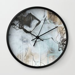Static and Storm - Square Abstract Expressionism Wall Clock