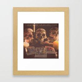 Catacomb Culture - Skulls and Tarot Framed Art Print