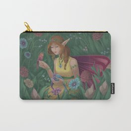 Fairy Girl Enjoying her Surrounding | Fantasy Illustration Carry-All Pouch