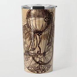 Steampunk - Clock and Gears Ballon Travel Mug