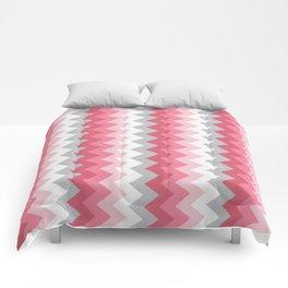 Chevron Pink & Grey Comforters
