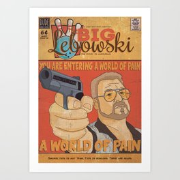 The Big Lebowski Comic Style Print Art Print