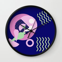 Pool Lounging Wall Clock