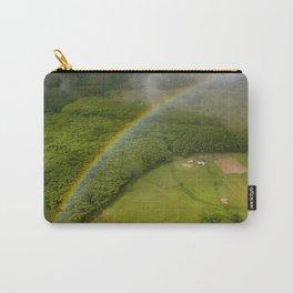 Hawaiian Rainbow Over Valley in Kauai: Aerial View Carry-All Pouch