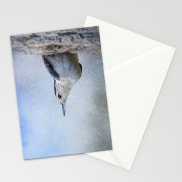 Nuthatch In The Snow Stationery Cards