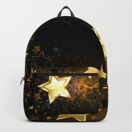 Background with golden stars Backpack