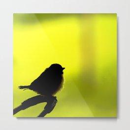 Baby Bird In Early Summer #decor #society6 Metal Print