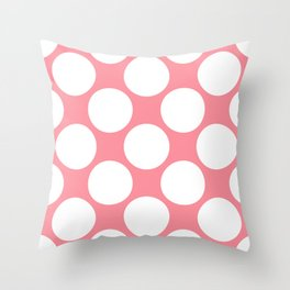 Polka Dots Pink Throw Pillow