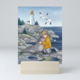 Boy with the Seal Mini Art Print