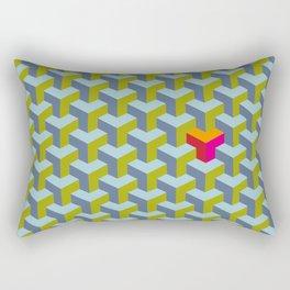 Be yourself - geomtric op art pattern Rectangular Pillow