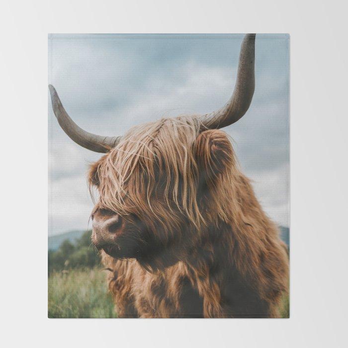 Scottish Highland Cattle Animal Photography Throw Blanket By Regnumsaturni