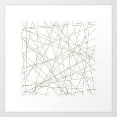 #191 Forty-nine straight lines – Geometry Daily Art Print