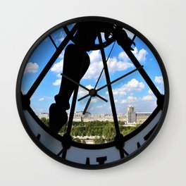 View of Paris from Museum Orsay Wall Clock
