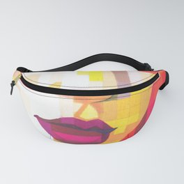 Red Portrait of Woman Fanny Pack