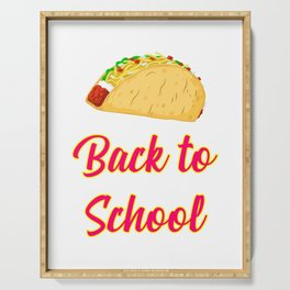 Back to School Tacos Quote Design Serving Tray