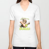 iggy V-neck T-shirts featuring Iggy print by SUVAN