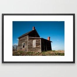 Abandon Farm House Framed Art Print