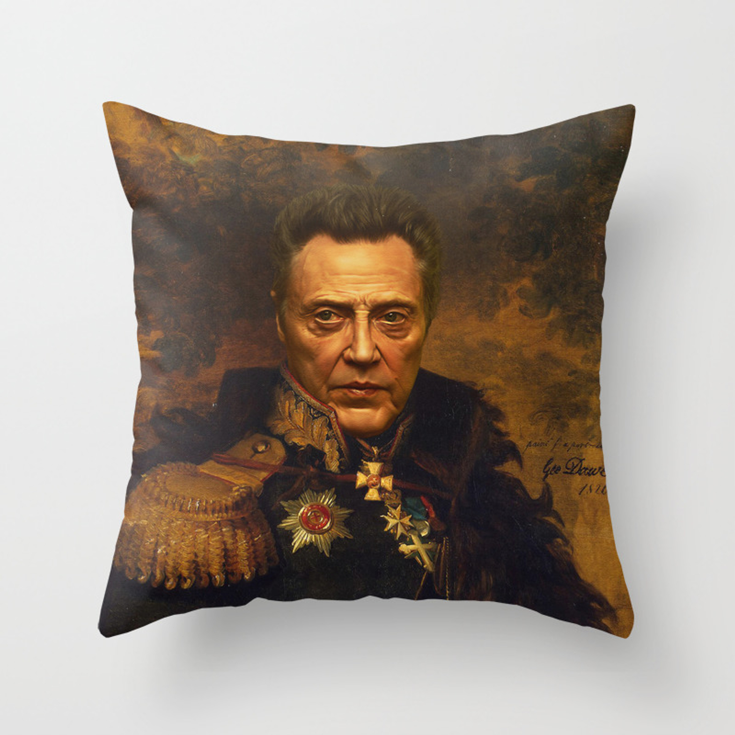 Christopher Walken Replaceface Throw Pillow By Replaceface Society6
