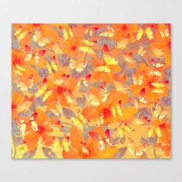 Tangerine butterflies Canvas Print