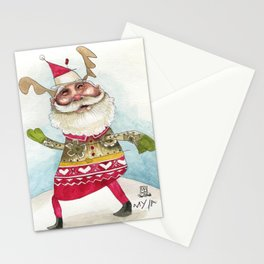 Steampunk Santa Stationery Cards