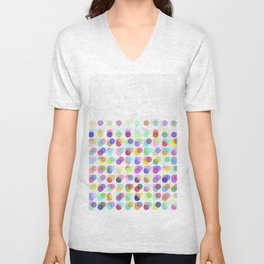 Pastel Dots Unisex V-Neck