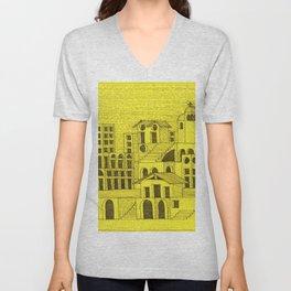 Architectural fantasy_4 Unisex V-Neck