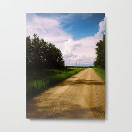 Prairie Road Metal Print