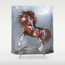 Native Horse Shower Curtain